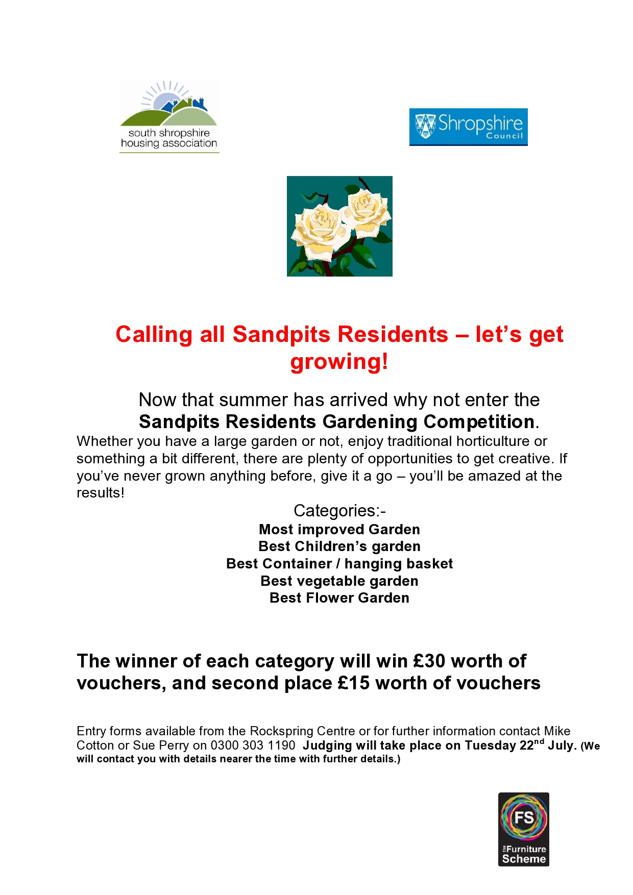 Sandpits Residents Gardening Competition 2014 South