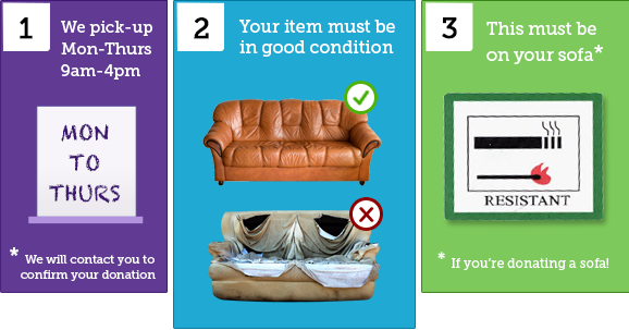 How donating furniture works at the Furniture Scheme